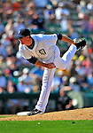 5 March 2009: Detroit Tigers' pitcher Eddie Bonine in action during a Spring Training game against the Washington Nationals at Joker Marchant Stadium in Lakeland, Florida. The Tigers defeated the visiting Nationals 10-2 in the Grapefruit League matchup. Mandatory Photo Credit: Ed Wolfstein Photo