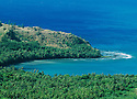 Guam, Micronesia: Cetti Bay on the southwest coast from highway lookout point.