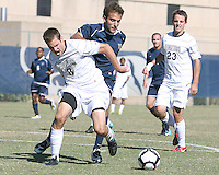 Tommy Muller #8 of Georgetwn Universiity battles for the ball with  Dylan Renna #9 of Villanova University during a Big East match at North Kehoe Field, Georgetown University on October16 2010 in Washington D.C. Georgetown won 3-1.