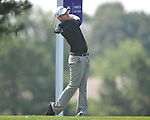 Golfer John Merrick tees off on the third hole at the PGA FedEx St. Jude Classic at TPC Southwind in Memphis, Tenn. on Thursday, June 9, 2011.