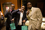 New York Giants' Plaxico Burress, right, after receiving Tiffany's Supper Bowl Rings May 29, 2008. Photographer: Robert Caplin For The New York TImes..