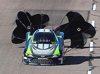 Feb 25, 2017; Chandler, AZ, USA; NHRA funny car driver Alexis DeJoria during qualifying for the Arizona Nationals at Wild Horse Pass Motorsports Park. Mandatory Credit: Mark J. Rebilas-USA TODAY Sports
