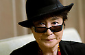 TOKYO - DEC. 10: Yoko Ono-Lennon pictured at her hotel on her most recent visit to Japan, part of which was spent organising and attending her annual Dream Power concert in Tokyo which raises money for charity projects including housing projects and children's projects in Africa.. (Photo by Alfie Goodrich/Nippon News)