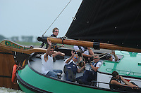 SKUTSJESILEN: LEMMER: Lemster baai, 31-07-2013, SKS skûtsjesilen, Lemmer 1, Sneker Pan pakt vijfde overwinning van dit kampioenschap, ©foto Martin de Jong