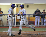 LSU's Grant Dozar hits a home run against Ole Miss in Oxford, Miss. on Friday, May 4, 2012. LSU won 4-3 in 13 innings.