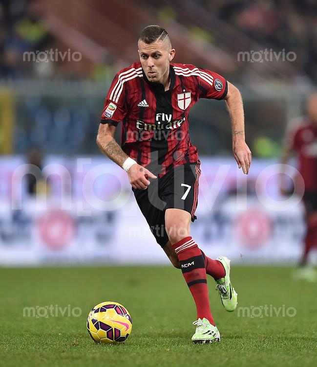 FUSSBALL INTERNATIONAL   SERIE A   SAISON  2014/2015   11. Spieltag Sampdoria Genua - AC Mailand                     08.11.2014 Jeremy Menez (AC Mailand) am Ball