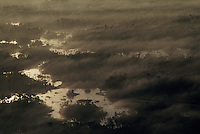 Morning fog rises from the prairies of the Okefenokee National Wildlife refuge. <br /> <br /> Established in 1937, the 396,000 acre Okefenokee is the oldest, well-preserved fresh water marsh in the United States.