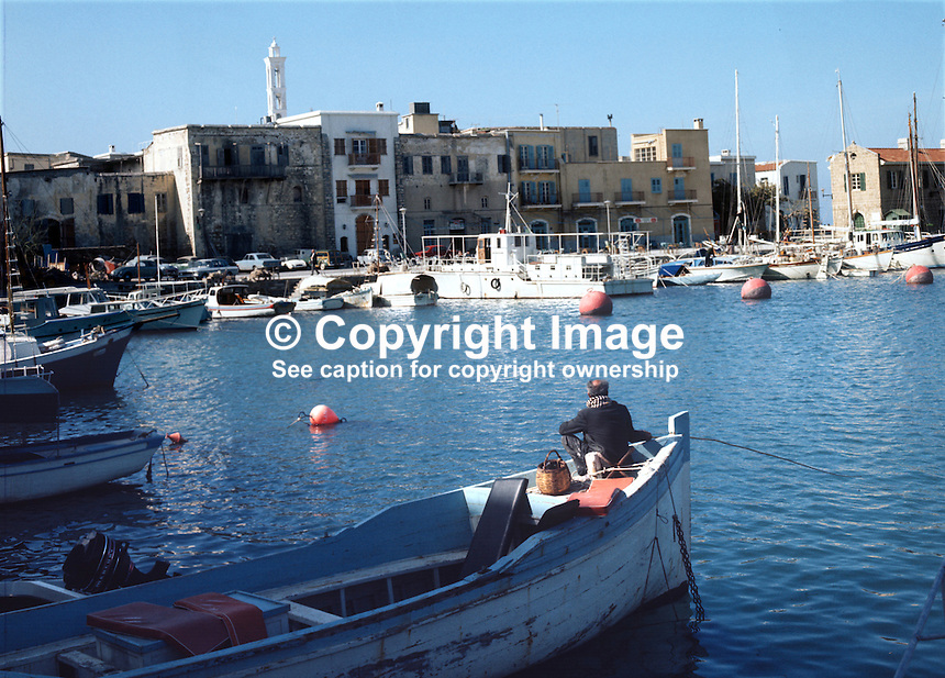 Harbour, Kyrenia, Cyprus, Turkish area, 197102000106c..Copyright Image from Victor Patterson, 54 Dorchester Park, Belfast, UK, BT9 6RJ..Tel: +44 28 9066 1296.Mob: +44 7802 353836.Voicemail +44 20 8816 7153.Skype: victorpattersonbelfast.Email: victorpatterson@me.com.Email: victorpatterson@ireland.com (back-up)..IMPORTANT: If you wish to use this image or any other of my images please go to www.victorpatterson.com and click on the Terms & Conditions. Then contact me by email or phone with the reference number(s) of the image(s) concerned.