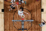 01 APRIL 2012:  Brittney Griner (42) of Baylor University pulls down a rebound against Stanford University during the Division I Women's Final Four semifinals at the Pepsi Center in Denver, CO.  Baylor defeated Stanford 59-47 to advance to the championship final.  Jamie Schwaberow/NCAA Photos