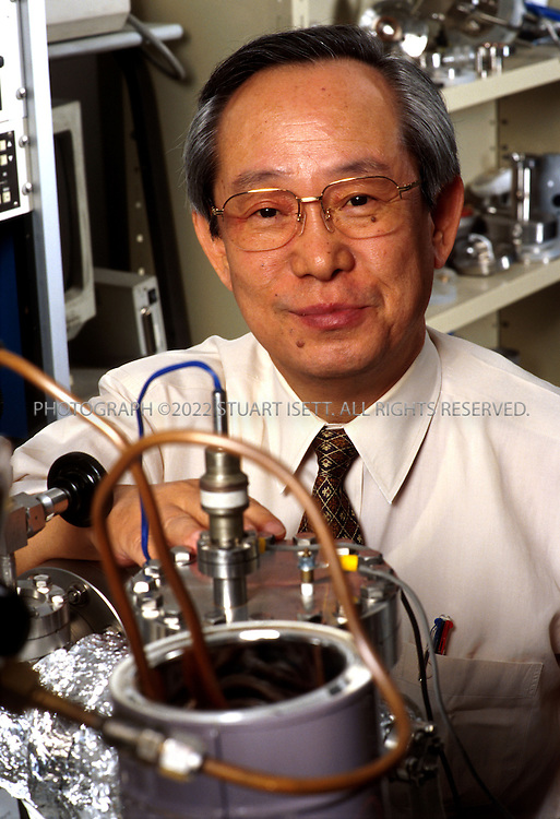 10/4/2001--Suita City, Osaka, Japan..Professor Akito Takahashi of Osaka University poses in his lab where he is currently working on nuclear fusion experiments..All photographs ©2003 Stuart Isett.All rights reserved.This image may not be reproduced without expressed written permission from Stuart Isett.