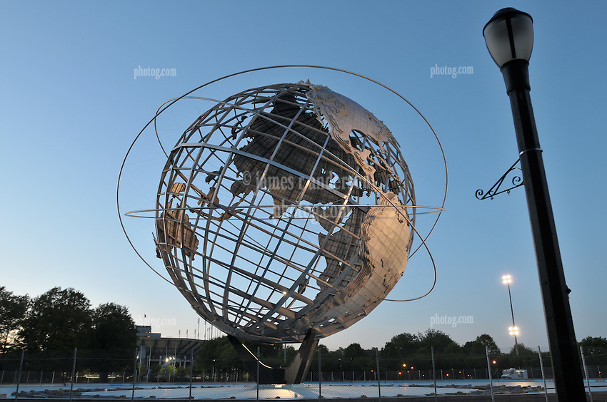 Unisphere in Flushing Meadow - Corona Park, Queens, NYC, NY. Originally built for the 1964-65 New York Worlds Fair.