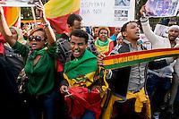 Etiopi in Italia protestano per le uccisioni di migranti in Arabia Saudita