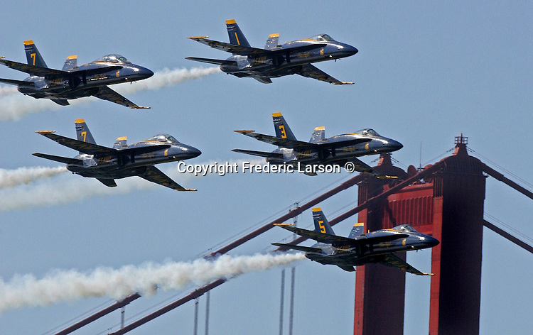 The Blue Angels arrived with a flourish this morning, wowing dozens of spectators who gathered to watch the spectacle in advance of Fleet Week.