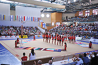 Opening ceremony display is performed at 2010 Holon Grand Prix at Holon, Israel on September 3, 2010.  (Photo by Tom Theobald).