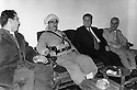 Iraq 1974 <br /> The resumption of hostilities, meeting of Mustafa Barzani with the former Kurdish ministers in Baghdad, Saleh Youssefi and Sami Abdul Rahman and the politician, Fuad Aref <br /> Irak 1974 <br /> La reprise de la lutte arm&eacute;e, le general Barzani entour&eacute; de Sami Abdul Rahman et Fuad Aref et Saleh Youssefi, ses ex-repr&eacute;sentants a Baghdad
