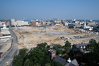 1997 July 08..Redevelopment..Macarthur Center.Downtown North (R-8)..LOOKING WEST.FROM SCHOOL ADMIN BUILDING...NEG#.NRHA#..