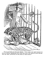 "Viceroy of India (to General Botha) ""I'm sure you only mean to have a little harmless fum with his tail, but what's fun to you may be very annoying to the rest of the tiger."""