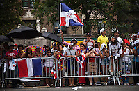 people from Dominican Republic take part during the Bronx Dominican parade in New York July 28, 2013 by Kena Betancur / VIEWpress