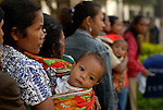 Voters line up at the polling staion in Talimoro, Gleno.  June 30 2007 Timor-Leste Parliamentary Elections. Ermera District