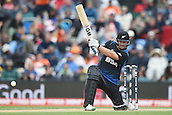 14.02.2015. Christchurch, New Zealand.  Corey Anderson batting during the ICC Cricket World Cup match between New Zealand and Sri Lanka at Hagley Oval in Christchurch, New Zealand. Saturday 14 February 2015.