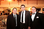 """Southington, CT- 04 February 2017-020417CM17-  Social Moments--- From left,  Dr. Sae Hahm and Dr. Kaveh Shahmohammadi with St Mary's and Joe Natale of Waterbury are photographed during the """"A Night in Havana"""" the 26th annual Gala put on by Saint Mary's Hospital Aqua Turf in Southington.   Christopher Massa Republican-American"""