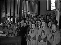 Franciscan Friary Choir Conducted by Licinio Refice at Merchant's Quay.09/05/1954...Licinio Refice (12/02/1883 &ndash; 11/09/1954) was an Italian composer and priest. With Monsignor Lorenzo Perosi, he represented the new direction taken by Italian church music in the twentieth century..His first opera Cecilia, about the legend of Saint Cecilia, created a sensation with its premiere in Rome in 1934; Claudia Muzio took the title role. His second opera Margherita da Cortona had its premiere in 1938. A third one, Il Mago (1954), was left incomplete (within the first act)..Refice died in 1954 during a performance of Cecilia in Rio de Janeiro; Renata Tebaldi was singing the title role in the performance..