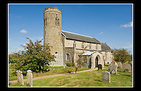 Church of St Mary - Roughton, Norfolk - 8th September 2009 - St Mary, is one of 124 existing Medieval round-tower churches in Norfolk.