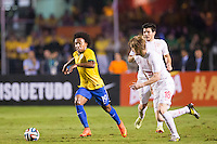 São Paulo, Brazil - June 6, 2014: Brazil defeat Serbia 1-0 during its final warm-up friendly match at Morumbi Stadium.