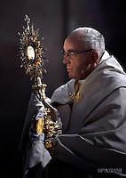 Pope Francis Corpus Domini Procession basilicas San Giovanni in Laterano in Rome. May 26, 2016