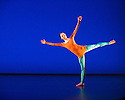 """Michael Clark Company in a piece set to """"Albatross"""" by Public Image Limited, at the Barbican. Dancers are: Harry Alexander, Julie Cunningham, Melissa Hetherington, Oxana Panchenko, Daniel Squire and Benjamin Warbis.  Picture shows: Melissa Hetherington. Photograph © Jane Hobson."""