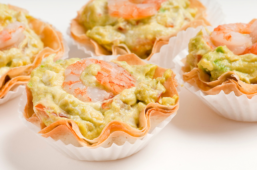 Group Avocado and Shrimp Volauvent. Volauvent is a tiny round canapé made of puff pastry. The term ' vol au vent ' means ' blown by the wind ' in French.