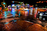 The intersection of 6th and Lamar on a rare, rainy night in Austin, Texas, September 2, 2010.