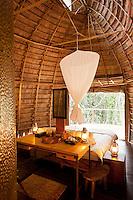 Bedroom interior, Camp Ngaga, Odzala-Kokoua National Park.
