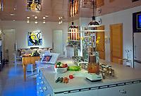 Dramatic Working Kitchen, Center Island,  Food Display; Interior; Design; home;  Residential, interior, .jpg