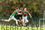 Colm Cooper Dr Crokes scores his sides first goal against  Loughmore-Castleiney despite the attention of John Meagher and Lorcan Egan in the Munster Senior Club Semi-Final at Crokes Ground, Lewis Road on Sunday
