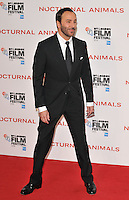 Tom Ford at the &quot;Nocturnal Animals&quot; 60th BFI London Film Festival Headline gala screening, Odeon Leicester Square cinema, Leicester Square, London, England, UK, on Friday 14 October 2016.<br /> CAP/CAN<br /> &copy;CAN/Capital Pictures /MediaPunch ***NORTH AND SOUTH AMERICAS ONLY***