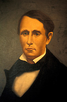 Portrait of 19th-century American filibuster William Walker who invaded  Central Americas several times before being executed in Honduras by firing squad in 1860.