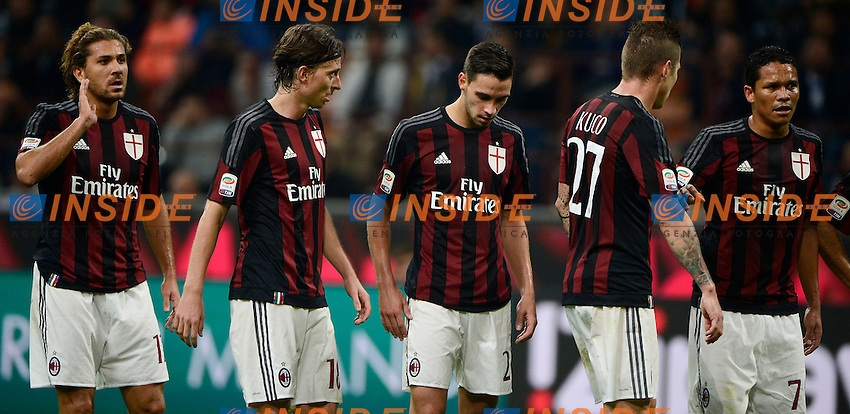Delusione giocatori Milan<br /> Milano 4-10-2015 Stadio Giuseppe Meazza - Football Calcio Serie A Milan - Napoli. Foto Giuseppe Celeste / Insidefoto