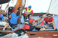ZEILEN: STAVOREN: IJsselmeer, 26-07-2014, SKS skûtsjesilen, skûtsje Doarp Grou, ©Martin de Jong