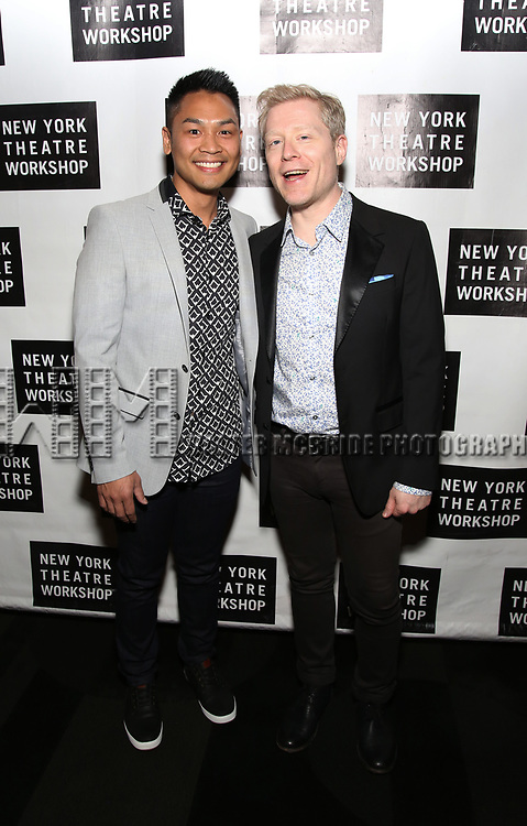 Rodney To and Anthony Rapp attend New York Theatre Workshop's 2017 Spring Gala at the Edison Ballroom on May 15, 2017 in New York City.
