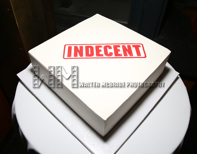 Cake at the Broadway Opening Night After Party for  'Indecent' at Bryant Park Grill on April 18, 2017 in New York City.