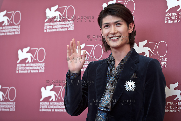 Japanese actor Haruma Miura poses during the photocall of 'Harlock : Space Pirate' presented out of competition at the 70th Venice Film Festival on September 3, 2013. (Photo by Adamo Di Loreto/BuenaVista*photo)