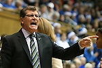 17 December 2013: UConn head coach Geno Auriemma. The Duke University Blue Devils played the University of Connecticut Huskies at Cameron Indoor Stadium in Durham, North Carolina in a 2013-14 NCAA Division I Women's Basketball game.