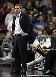 Gonzaga's Head Coach Mark Few watches the game against North Dakota State during the 2015 NCAA Division I Men's Basketball Championship's March 20, 2015 at the Key Arena in Seattle, Washington.     ©2015. Jim Bryant Photo. ALL RIGHTS RESERVED.