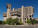 The John P. Robarts Research Library or Robarts Library of the University of Toronto. Toronto, Ontario, Canada.