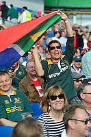 A South Africa fan enjoys the pre-match atmosphere. Rugby World Cup Pool B match between South Africa and Japan on September 19, 2015 at the Brighton Community Stadium in Brighton, England. Photo by: Patrick Khachfe / Onside Images