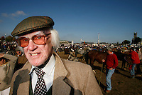 A horse dealer is pictured at the Ballinasloe horse fair.<br />