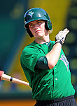 2 July 2011: Vermont Lake Monsters' third baseman Jacob Tanis awaits his turn in the batting cage prior to a game against the Tri-City ValleyCats at Centennial Field in Burlington, Vermont. The Lake Monsters rallied from a 4-2 deficit to defeat the ValletCats 7-4 in NY Penn League action. Mandatory Credit: Ed Wolfstein Photo
