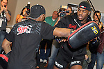 March 17, 2011; Newark, NJ; Jon Jones works out for the media in preparation for his upcoming fight against UFC Light Heavyweight Champion Mauricio Rua at UFC 128 in Newark, NJ.