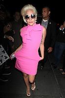 Lady Gaga Seen In NYC